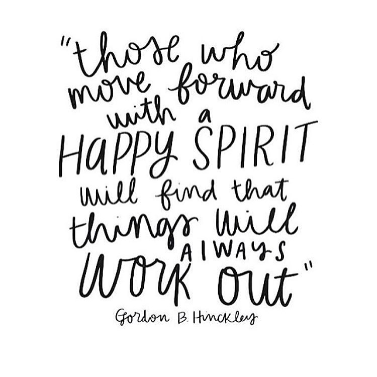 How To Move Forward With A Happy Spirit